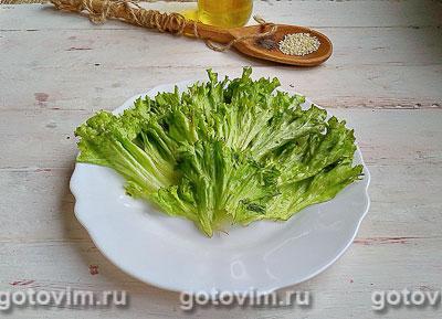 Тёплый салат из курицы с грибами и овощами, Шаг 07