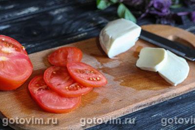 Теплый салат с баклажаном и сыром моцарелла, Шаг 03