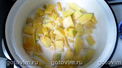 Тыквенная молочная каша с рисом, Шаг 03