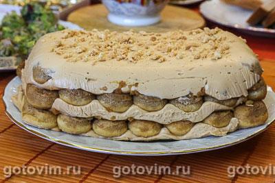Тирамису с вареной сгущенкой. Фотография рецепта