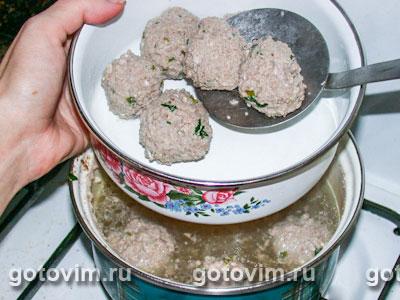 Томатный суп с фрикадельками, Шаг 03