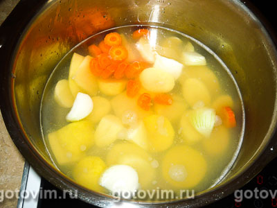 Томатный крем-суп с рыбой, Шаг 04