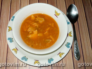 Томатный крем-суп с рыбой