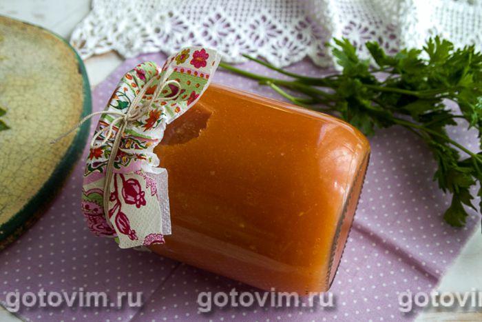 Томатный соус с баклажанами на зиму. Фотография рецепта