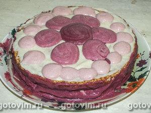 Бисквитный торт с бананами