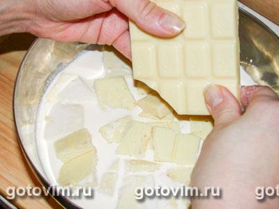 Пирог с белым шоколадом, Шаг 02
