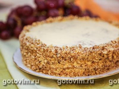 Торт с грецкими орехами. Фотография рецепта
