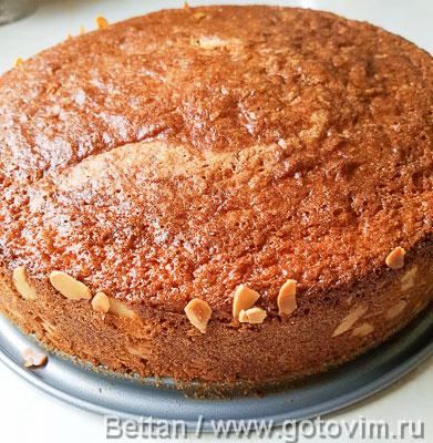 Бисквитный торт с клубникой, лаймом и мятой, Шаг 06