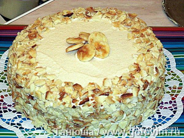 Торт «Наполеон» (на сметане). Фотография рецепта