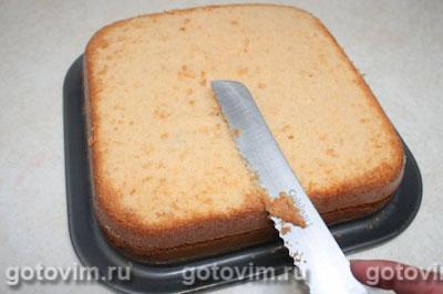 Торт с фруктами и желе, Шаг 03