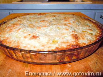 Тосканский пирог с кокосовой корочкой  . Фотография рецепта