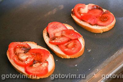 Тосты с кетчупом и помидорами, Шаг 03
