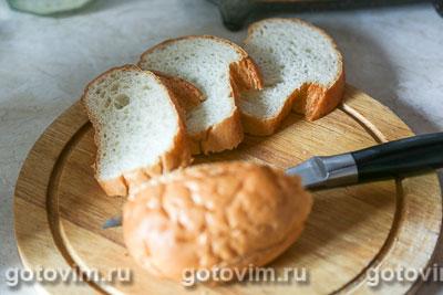 Тосты с сосисками, огурцом и сыром, Шаг 01