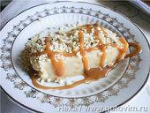 Турецкий десерт из манки на молоке с карамелью