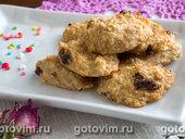 Творожно-банановое печенье с финиками (без муки, яиц и сахара)