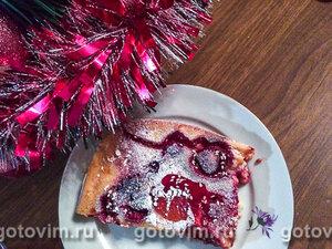 Творожный пирог с ягодами без масла