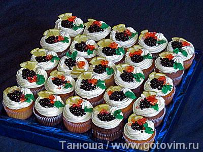 Фотография рецепта Украшение торта «черной икрой» (черная фальшикра)