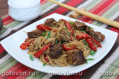 Фотография рецепта Утка с рисовой лапшой