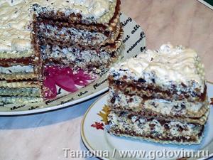 Вафельный тортик с безе