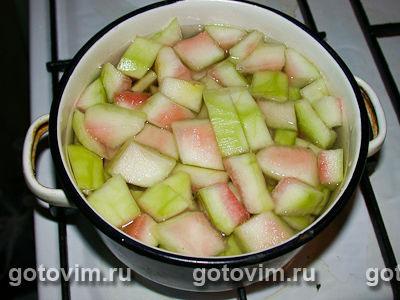 Фотографии рецепта Варенье из арбузных корок, Шаг 03
