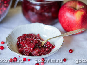 Варенье брусника с яблоками