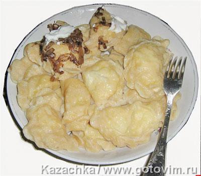Вареники с картошкой. Фотография рецепта