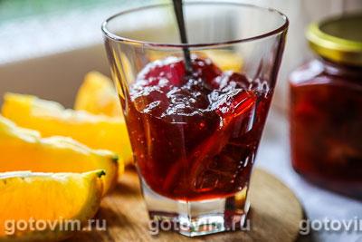 Клубничное варенье с апельсином. Фотография рецепта