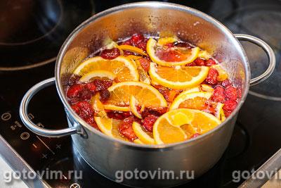 Клубничное варенье с апельсином, Шаг 05