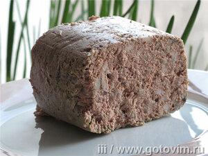 Вареная печеночная колбаса (из куриной печени)