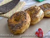 Варено-печеные бублики со льном