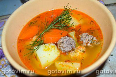 Венгерский суп с мясными фрикадельками