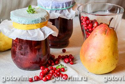 Фотография рецепта Варенье из брусники с грушами