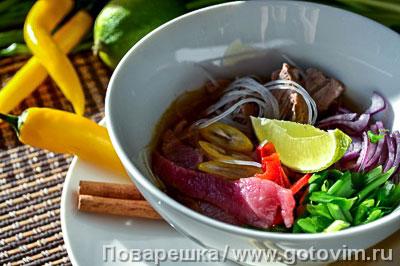 Вьетнамский суп фо. Фотография рецепта