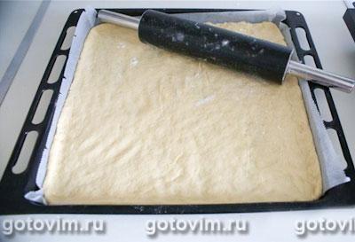 Вишнёвый пирог c крошкой (творожное тесто) , Шаг 04