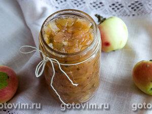 Яблочный джем с имбирем и мятой