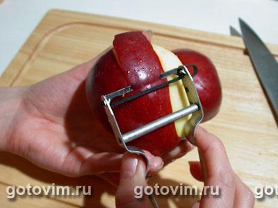 Яблоки в кляре, Шаг 01