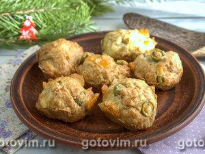 Закусочные кексы с оливками и сыром