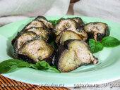 Печеные баклажаны с орехами