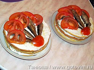 Закусочный торт с рыбой, Шаг 06
