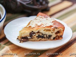 Заливной пирог с грибами