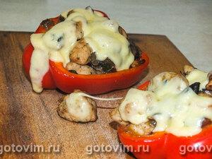 Перец, фаршированный курицей и грибами