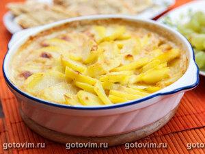 Картофельная запеканка с сыром мюнстер