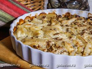 Картофельная запеканка с лисичками (в сметане)