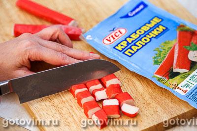 Макаронная запеканка с овощами, сыром и крабовыми палочками  VIČI, Шаг 05