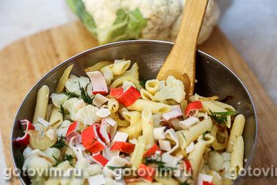 Макаронная запеканка с овощами, сыром и крабовыми палочками  VIČI, Шаг 06