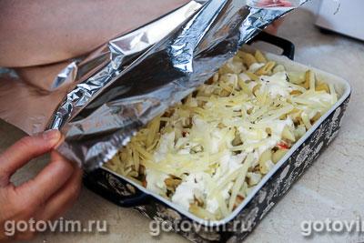 Макаронная запеканка с овощами, сыром и крабовыми палочками  VIČI, Шаг 08