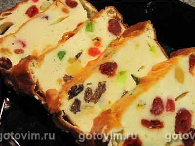 Запеканка творожная с цукатами, изюмом и сушеной вишней. Фотография рецепта