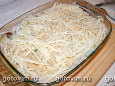 Запеканка с курицей, кабачками и грибами, Шаг 05