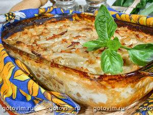 Картофельная запеканка с лисичками