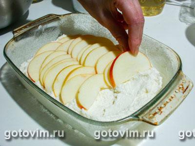 Творожная запеканка с яблоками, Шаг 04